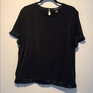 Liz Claiborne fringe blouse